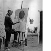 Jean Leppien an der Staffelei Roquebrune 1957  Foto: Sem Presser