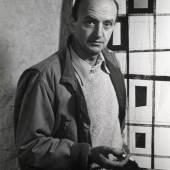 Jean Leppien in seinem Atelier in Roquebrune, 1952 | © Foto: Hans Schreiner
