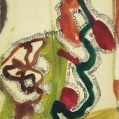 Olav Christopher Jenssen, Horsens drawing Jorgensens Hotel, 29.04,1994, Aquarell, Prägestempel, gewachstes Papier, Stiftung Museum Kunstpalast, Düsseldorf, Hanck 943, ©VG Bild-Kunst, Bonn 2012