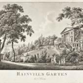 Jes Bundsen, Rainvilles Garten in Altona, Kupferstich, 1850, Foto SHMH_Altonaer Museum