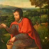 Joachim Patinir (1475/85 – 1524) – Umkreis Der Heilige Franziskus mit Tieren | Öl auf Holz | 25 x 18cm Ehemals Sammlung Jacques Goudstikker, Amsterdam Schätzpreis: 1.000 – 1.200 Euro