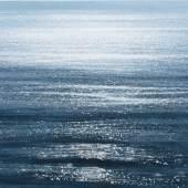 Jochen Hein, Meeresoberfläche, 2011 - 2020 Acryl auf Jute, 100 x 130 cm