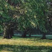 Jochen Hein, Park 2019, Acryl auf Holz, 30 x 40 cm