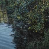 Jochen Hein, Teich 2019, Acryl auf Baumwolle, 60 x 80 cm