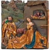 Jörg Gartner (Tätig um 1505 bis nach 1530 in Passau) Hoch-Relief mit der Geburt Christi Mindestpreis:28.500 EUR