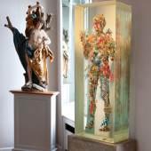 ÖRG LEDERER  Saint Sebastian gilt and polychrome limewood height 46 in.; 117cm Estimate $600/1.2 million