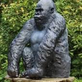 Silverback Gorilla bronze by John Cox