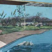 John Harmer, 'Empty Chair', acrylic on canvas, 81cm x 133cm, £4000