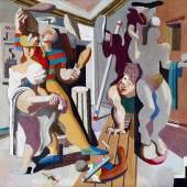 Karl Kunz: Jongleure, 1938, Öl auf Leinwand, 164x174 cm, © Morat - Institut für Kunst und Kunstwissenschaft, Freiburg im Breisgau