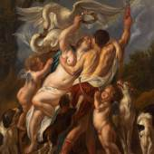 JACOB JORDAENS  Venus und Adonis.  Öl auf Leinwand. 197,5 × 155 cm.  Ergebnis: CHF 183 000