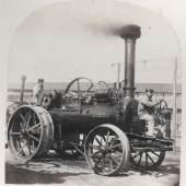 Josef Carl Steuer Strassen Lokomotive von Clayton et Schuttleworth et Co., 1866 Albertina, Wien