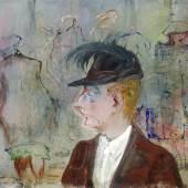 """KatNr. 200300 Josef Hegenbarth   Josef Hegenbarth """"Menschen auf der Straße"""". Um 1949. 37 x 49 cm. 4500 €"""