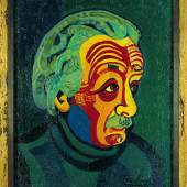 Josef Scharl, Albert Einstein, 1952, Kunsthalle Emden – Vermächtnis Rolf Gillhausen, © Susanne Fiegel, Foto: Martinus Ekkenga, Norden