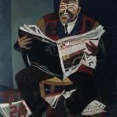 Josef Scharl, Der Zeitungsleser, 1935, Staatliche Museen zu Berlin, Nationalgalerie Berlin, © Susanne Fiegel, Foto: bpk/Jörg P. Anders