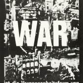 Joseph Huber, WAR ist die Vergangenheitsform von SEIN, Postkarte; © VG Bild-Kunst Bonn 2015