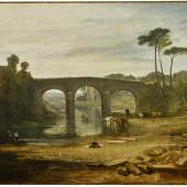Joseph Mallord William Turner, R.A_Whalley Bridge and Abbey, Lancashire Dyers Washing and Drying Cloth_Estimate £1 - 1.5 million (Custom)