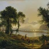 Joseph Rebell, Sonnenuntergang über den Campi Flegrei gegen die Inseln Procida und Ischia, 1819 (Detail) © Belvedere, Wien