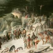 Kreuzigung im Schnee Karel van Mander 1599 Holz, 67 x 117 cm © Paris, Galerie de Jonckheere