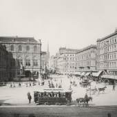 Blick von der Ringstraße Richtung Kärntner Straße um 1890