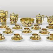 Kaiserliches Kaffee- und Teeservice, Porzellan, Wien, kaiserliche Manufaktur, 1788 - 1799 € 100.000 - 150.000