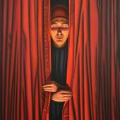 """Josef Bramer (geb. 1948 Wien) """"Es hat mich sehr gefreut"""", 2010 Öl auf Leinwand, monogrammiert, 100 x 100 cm  Zur Verfügung gestellt von: Galerie Kaiblinger – kunst.begegnung"""