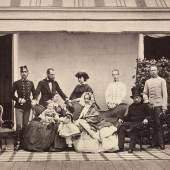 """Familienbildnis """"Die allerhöchste Kaiserfamilie"""" Albuminabzug von Ludwig Angerer 1860"""
