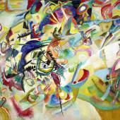 Wassily Kandinsky Komposition VII, 1913 Öl auf Leinwand, 200 x 300 cm Staatliche Tretjakow-Galerie, Moskau © Galerie nationale Tretiakov  Druckbare Bildgrösse ca.: 20 x 30 cm