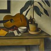 »Stillleben mit Gitarre« von Alexander Kanoldt, das 1935 vom damaligen Stuttgarter Galerieverein