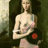 Karl Hofer Mädchen mit Schallplatte, 1941 Albertina, Wien - Dauerleihgabe der Sammlung Forberg © VBK, Wien 2011