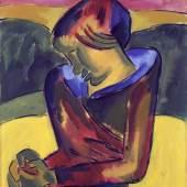 Karl Schmidt-Rottluff (1884–1976), Mädchen, 1920, Öl auf Leinwand auf Sperrholz, 91 x 76,3 cm, Kunstsammlungen Chemnitz, Foto: bpk/Kunstsammlungen Chemnitz/May Voigt © VG Bild-Kunst, Bonn 2020