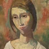 Karl Hofer  Mädchenkopf | 1945  Öl auf Leinwand | 51,5 x 35,5cm  Schätzpreis: € 35.000 – 45.000