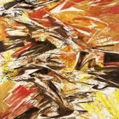 Karl Otto Götz Giverny III/2, 1987 Mischtechnik auf Leinwand 210 x 175 cm Kunstpalast, Düsseldorf, Stiftung Sammlung Kemp © VG Bild-Kunst, Bonn, 2021 Foto: Kunstpalast - LVR-ZMB - Stefan Arendt