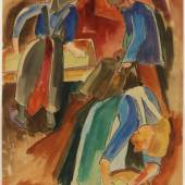 "Karl Schmidt-Rottluff 1884 Rottluff/Chemnitz - 1976 Berlin - ""Am Backofen"" - Aquarell/Papier. 64,7 x 49,9 cm.  Aufrufpreis:25.000 EUR Schätzpreis:50.000 EUR"