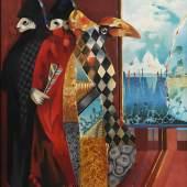 "Gerd Krauss ""Karnevalisten in Venedig"""