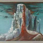 Kat-Nr.: 127  Edgar Jené (Saarbrücken 1904-1984 La Chapelle St. André)  Eine Sphinx, 1971, Öl auf Leinwand  Kat.-Preis: €1600 Kat-Nr.: 127
