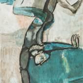 """1082 Mirer, Rudolf 1937 Chur. Tätig in Steinhausen/Obersaxen. Farblithogr. """"Gleichgewicht"""". U.r. mit Bleistift sign. u. 85(19) dat. U.l. 93/150 num. Verso auf Klebeetikett bet. 78 x 59 cm. R. Lit.: 1. (3438073) 200,-- EURO"""