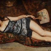 Kat.Nr.: 4194, Limit: 2.200 EUR Garnier, Jules Arsène: Junge liegende Frau.