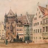 ALT, Rudolf von 1812 - 1905 Nürnberg   Auktion 22. April 2013 Bleistift, Aquarell, Deckweiß auf Papier 23,9 x 32,2 cm € 10.000 – 20.000