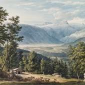 GAUERMANN, Jakob 1773 – 1843 Blick auf den Dachstein bei Altaussee 1815   Auktion 22. April 2013 Aquarell auf Papier 31,4 x 48,2 cm € 15.000 – 25.000