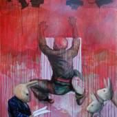 Künstler: Jun Ho Cho Titel: Critique, 2010 Format: 170 x 140 cm Technik: Acryl auf Leinwand Galerie: Galerie Michael Nolte (Münster)