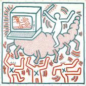 Keith Haring Ohne Titel, 1983 Vinylfarbe auf Vinylplane © Keith Haring Foundation