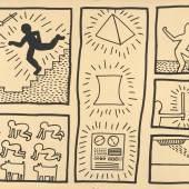 Keith Haring Ohne Titel, 1980 Tinte auf Plakatkarton © Keith Haring Foundation