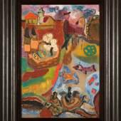 """((Bild Kerkovius; Bildnachweis: Kunsthaus Michael Schwarze Fine Art GmbH)): Farb- und fantasiereich ist das Gemälde der deutschen Malerin Ida Kerkovius, die dem Stuttgarter Kreis der Avantgardisten angehörte: """"Der Angler"""" entstand im Jahre 1930 und wird vom Kunsthaus Michael Schwarze Fine Art GmbH offeriert."""