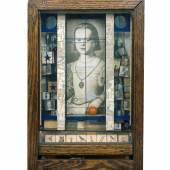 Joseph Cornell Untitled (Medici Princess) c. 1948 Box construction, 44.8 x 28.3 x 11.1 cm Private Collection, New York Photo courtesy Private collection, New York © The Joseph and Robert Cornell Memorial Foundation / Bildrecht, Wien, 2015