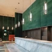 Kunsthaus Zürich, Chipperfield-Bau: Bar. Wandbespannung in Samt