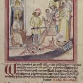 Bethlehemitischer Kindermord, Geschichte des Neuen Testaments (dt., tschech.), Mähren, um 1430 © Österreichische Nationalbibliothek