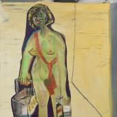 Martin Kippenberger, Selbstjustiz durch Fehleinkäufe, 1984. Mixed media auf Leinwand. 120 x 100 cm. © Martin Kippenberger Estate. Foto: Adam Reich.