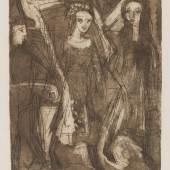 Ernst Ludwig Kirchner: Kaltnadelradierung Begegnung in der Nacht € 4.000-6.000