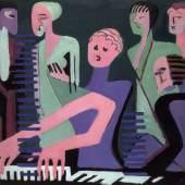 Ernst Ludwig Kirchner Sängerin am Piano Öl auf Leinwand 1930. Gordon 943  Galerie Henze & Ketterer, Wichtrach/Bern Galerie Henze & Ketterer & Triebold, Riehen/Basel Obj. Id.: 69979