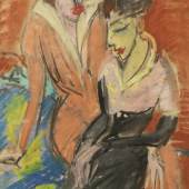 Ernst Ludwig Kirchner Zwei Frauen, um 1913 Pastell, 38 x 27 cm Franz Marc Museum, Kochel am See Dauerleihgabe aus Privatbesitz
